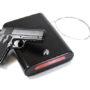 First Alert 5100K Portable Handgun Safe with Key Lock, TSA Approved, Small