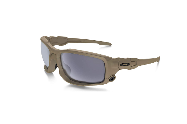 Oakley Si Ballistic Shock tube in Terrain Tan with Grey Lens