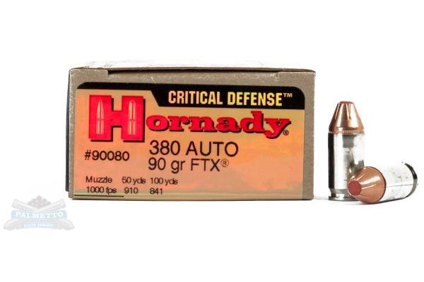 Hornady Critical Defense 380 Handgun Ammo
