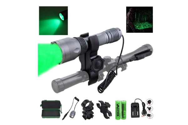 350-yard CREE LED Green Flashlight