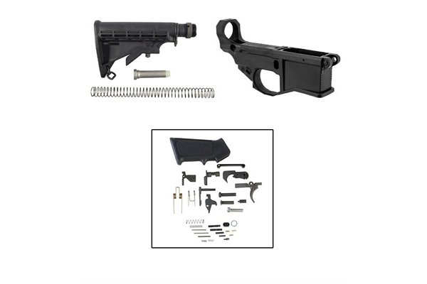 Brownells AR-15 80% Lower Build Kit with Buttstock
