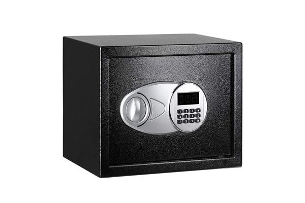 Amazon Basics Steel, Security Safe Lock Box, Black - 0.5 Cubic Feet